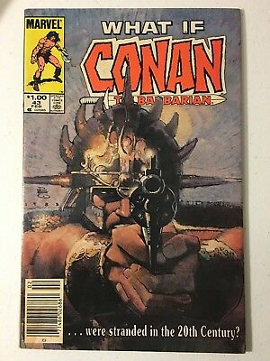 What If #43 Vf Condition Marvel Comics Conan Stuck In The 21St Century!!!