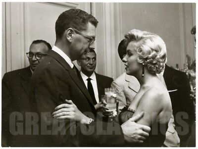Marilyn Monroe 1955 At Party Gorgeous Candid Original Vintage Photograph