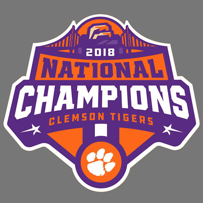 Clemson Tigers 2018 Champions Vinyl Sticker Car Truck Window Decal Laptop Yeti