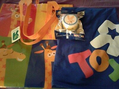 Toys R Us Employee T Shirt XL & Toys R Us Geoffrey Tote Bag & Gift Cards (Blue)