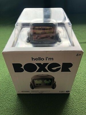 NEW! Hello I'm Boxer Interactive A.I. Robot Toy with Remote Control Black SEALED
