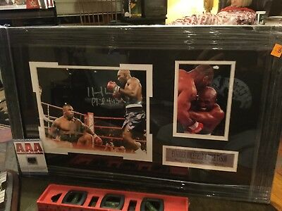 b561f38ea7e Mike Tyson Evander Holyfield DUAL Autographed Signed 8x10 Photo With Coa  Framed