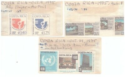 Costa Rica Sc.c636-39, C644-645 And C646-648 Mnh Sets Pg21