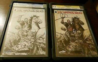 The Walking Dead #129 Convention Sketch/Color Variants CGC SS 9.8! Kirkman!!