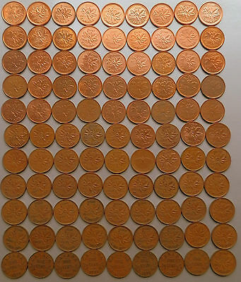 1920~2012 - CANADA - 98 x 1¢ Pennies No Duplicates Many Varieties