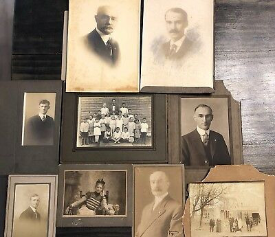 Vintage Lot of Antique Photographs Assorted sizes Blanche Hallbrook, Class Photo