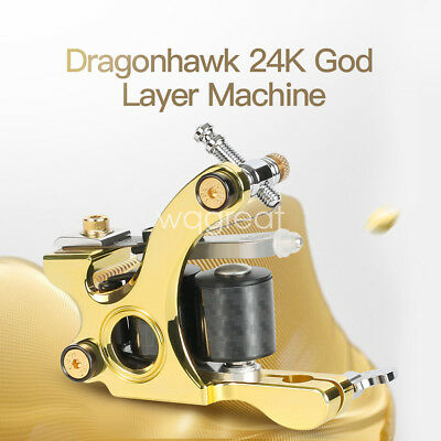 Handmade 12-Wrap Coils Puer Brass Tattoo Machine Straight Shader Circle