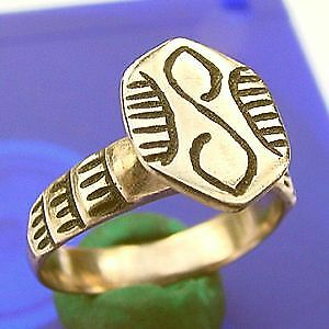 CV Celtic Bronze Ring PERFECT BATTLE SWIRLS ~FANCY DECORATIONS Super Shine Sz 11