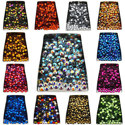 Hot Czech Crystal Rhinestones Top Quality Flatback DMC Iron Hotfix 1440pcs