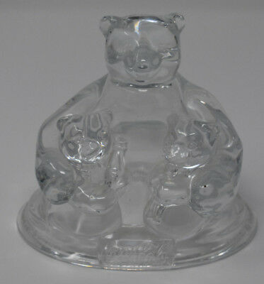 Coca Cola crystal polar bear figurine mint condition 1997