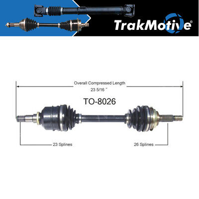 For Toyota Corolla FWD Geo Prizm Nova Front Driver Left CV Axle Shaft SurTrack