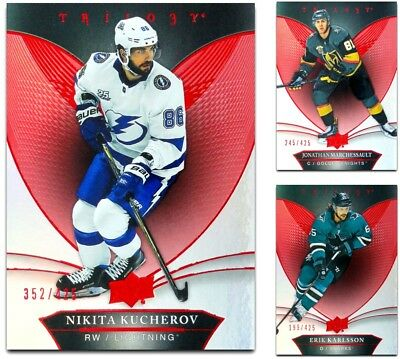 2018-19 Trilogy Red Foil **** PICK YOUR CARD **** From The LIST - xxx /425