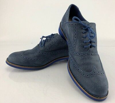 607fb3bf8dbd6 Cole Haan Oxfords - Blue Suede Leather Wingtip Brogue Dress Shoes Men s  Size 8B