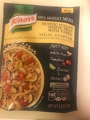 Knorr One Skillet Meals Rustic Italian White Bean With Farro Meal Starter
