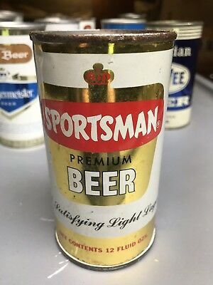 Nice Sportsman Flat Top Beer Can Maier Brewing Co. California
