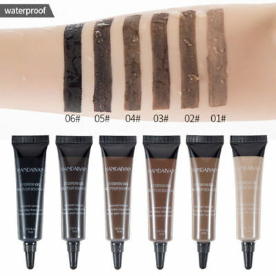 Waterproof Eye Brow Tattoo Tint Dye Gel Eyebrow Cream Long Lasting With Brush