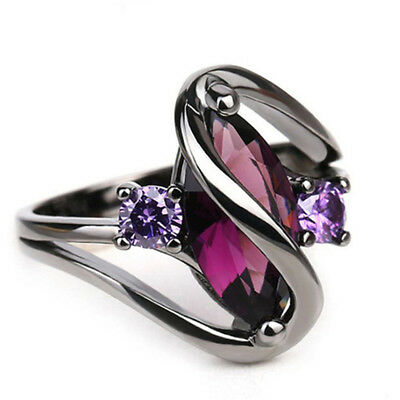 European and American Fashion Jewelry Simulation Zircon Heart-shaped Ring B