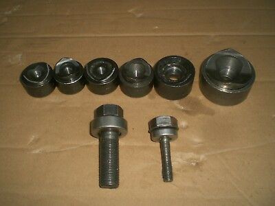 6 Pc. Greenlee Knockout Punch and die set