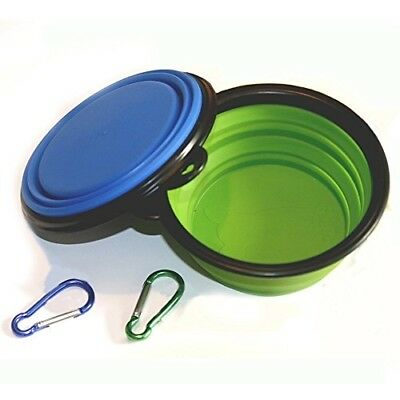 COMSUN Collapsible Dog Bowl, Food Grade Silicone BPA Free, Foldable Expandable C