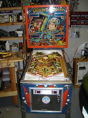 """CountDown"" Pinball Machine, Four Player from 1979 By Gottlieb."