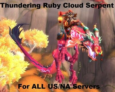 Reins of the Thundering Ruby Cloud Serpent - World of Warcraft Mount - All US/NA