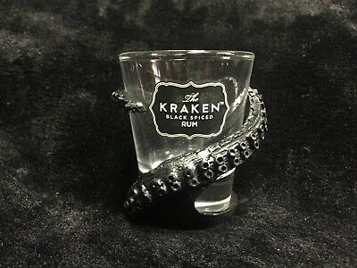 Kraken Black Rum ~ Black Tentacles Wrap Around SHOT GLASS!