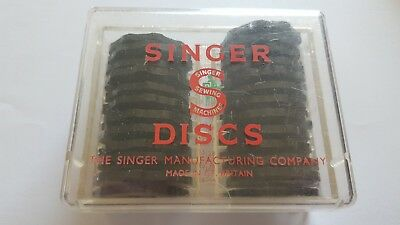 25 Singer Sewing Discs In Box