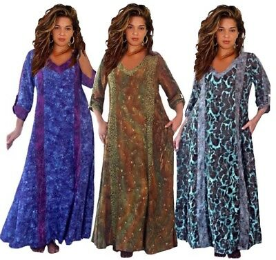 BOHO GYPSY MAXI Dress-Oversize Caftan-Pockets-Bali Batik ...