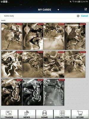 Swct Topps Star Wars Card Trader Battle Ready Sepia Lot Of 9