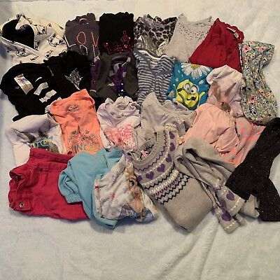 Girls Size 7/8 25 Pc Clothing Lot Tops, Bottoms, PJ's And More!