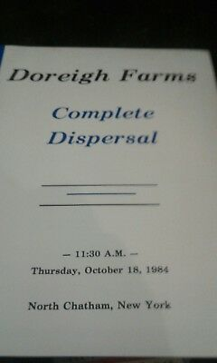 1984 doreigh farms auction of cattle north chatham ny