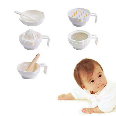 WOO Baby Food Fruit Vegetables Grinder Grinding Molinillo Bowl Separator Funnel