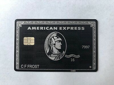 American Express Amex Centurion Black Card (prop)