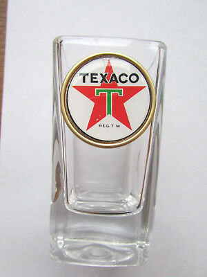 Texaco Gas Shot Glass , Texaco Gas Logo Shot Glasses,  Texaco shot glass