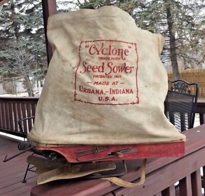 VINTAGE CYCLONE TRADE MARK SEED SOWER PATD 1925 MADE AT URBANA INDIANA USA Farm