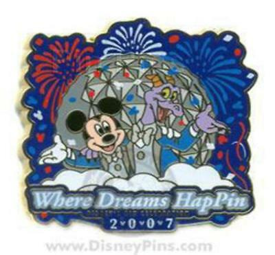 Disney Pin 56886 WDW Where Dreams HapPIN Welcome Event Figment Mickey LE 1400