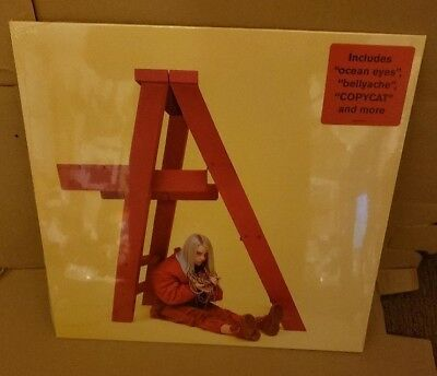 Billie Eilish LP record Don't Smile At Me 2017 red colored vinyl Sealed