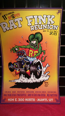 Rat Fink Reunion Poster. Ed Big Daddy Roth Memorial Event