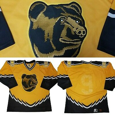 311019a64bb ... cheap vintage starter boston bruins hockey jersey adult 48 yellow pooh  bear 90s 845d7 73a8c