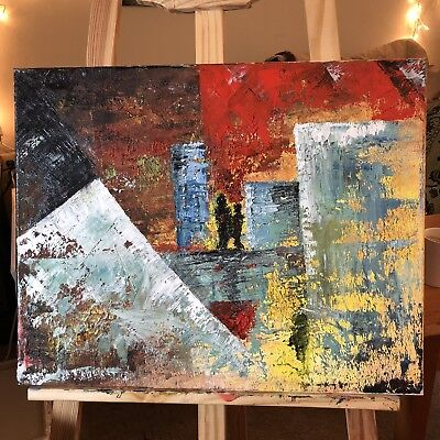 modern abstract art oil painting on canvas