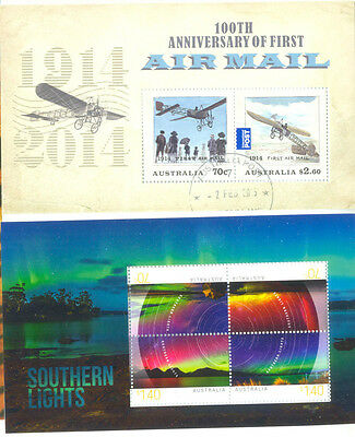 Australia-Southern lights and Airmail 2 special Min sheets fine used-cto