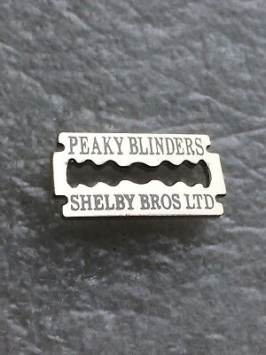 Peaky Blinders Enamel Badge - Razor Blade Design - Wear On Hat, Scarf & Shirt