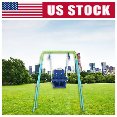 Sports Power Indoor Outdoor Toddler Folding Swing Set Baby Kid Play