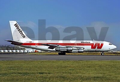 Aviation , Photo , Aircraft , 707_Western Airlines_Lc_720B_N3155 Lax 1971