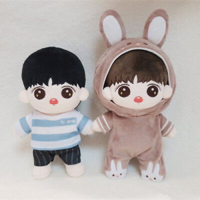 20cm KPOP BTS JUNGKOOK Plush Childhood Kook Doll Toy Full Set with 2sets Clothes