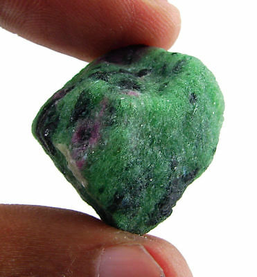 82.70 Ct Natural Ruby Zoisite / Anyolite Loose Gemstone Rough Specimen - RH1758