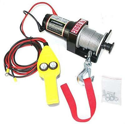 Electric Winch 12Volt Recovery ATV/UTV Winch Kits Wire Remote Control 4 Capacity
