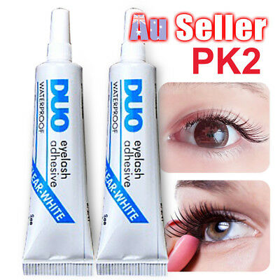 2PCS DUO Clear Eye Lash Glue White Adhesive Waterproof False Makeup Eyelashes