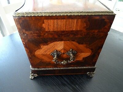 Antique 19C French Tantalus/Decanter Cabinet (075)