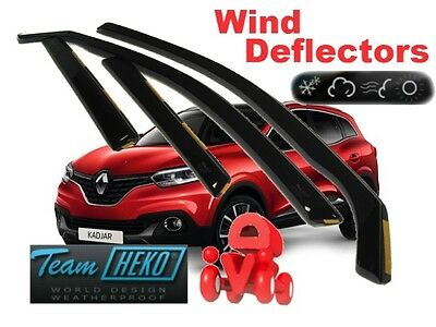 RENAULT KADJAR  2015 -  5.doors Wind deflectors 4.pc HEKO 27192